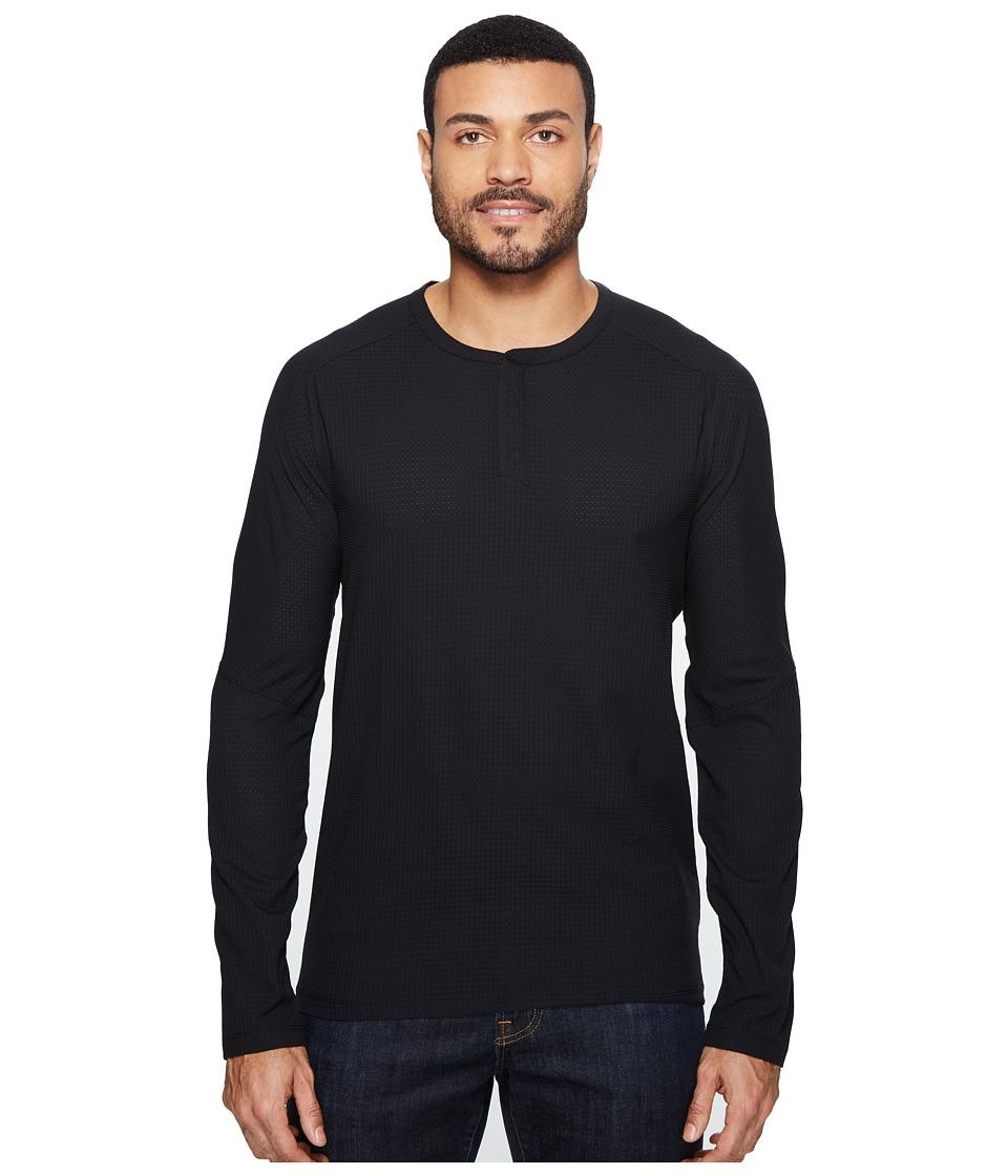Mountain Hardwear MHW AC Long Sleeve Henley (Black) Men