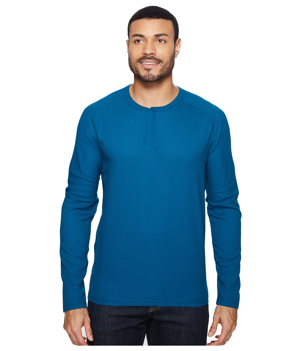 Mountain Hardwear - MHW AC Long Sleeve Henley (Phoenix Blue) Men's Long Sleeve Pullover