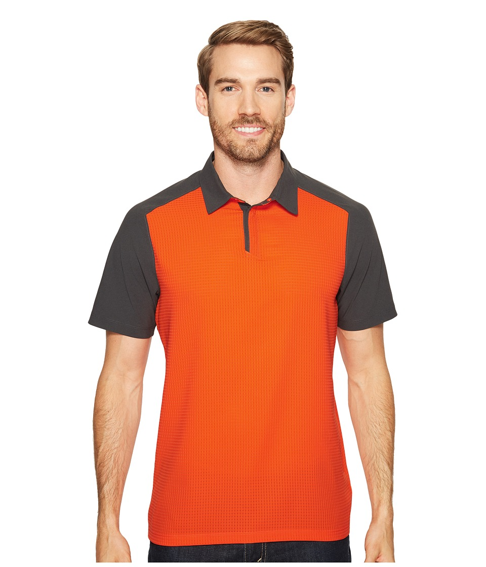 Mountain Hardwear - MHW AC Short Sleeve Polo (State Orange) Men's Short Sleeve Knit
