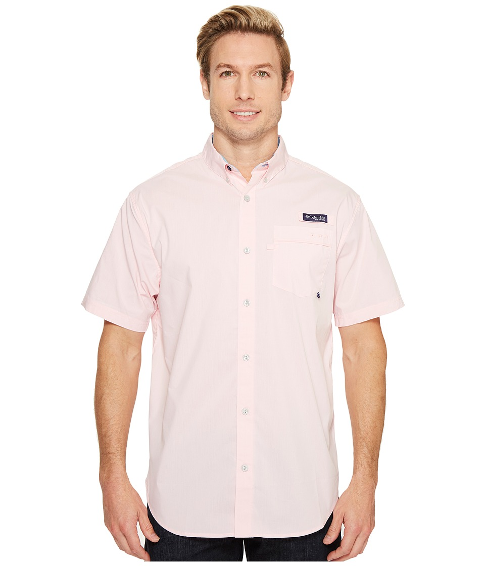 Columbia - Harborside Woven Short Sleeve Shirt (Cupid/Yacht) Men's Short Sleeve Button Up