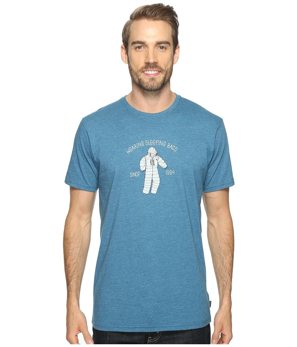 Mountain Hardwear Wearable Sleeping Bags Tee (Heather Phoenix Blue) Men