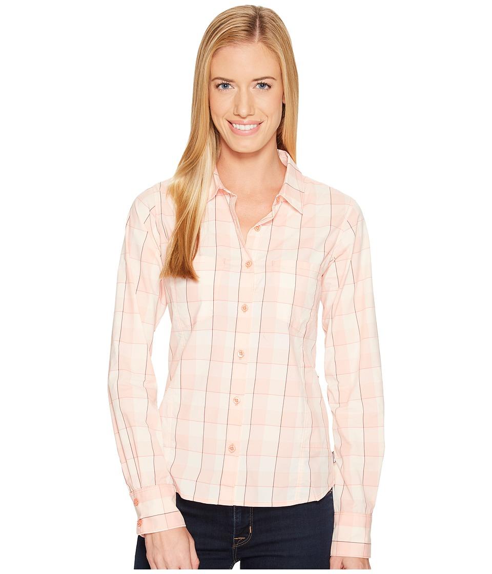 The North Face Long Sleeve Sunblocker Shirt (Burnt Coral Plaid) Women