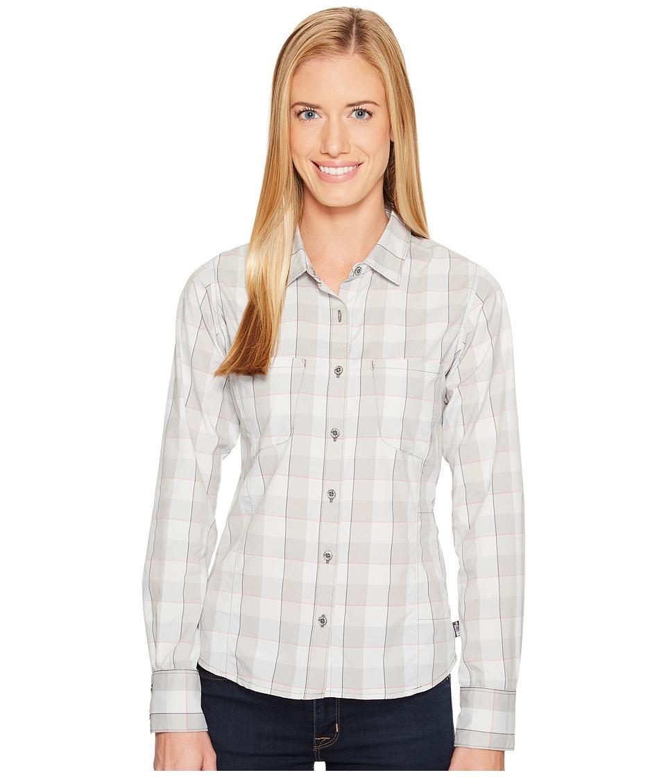 The North Face Long Sleeve Sunblocker Shirt (Zinc Grey Plaid) Women