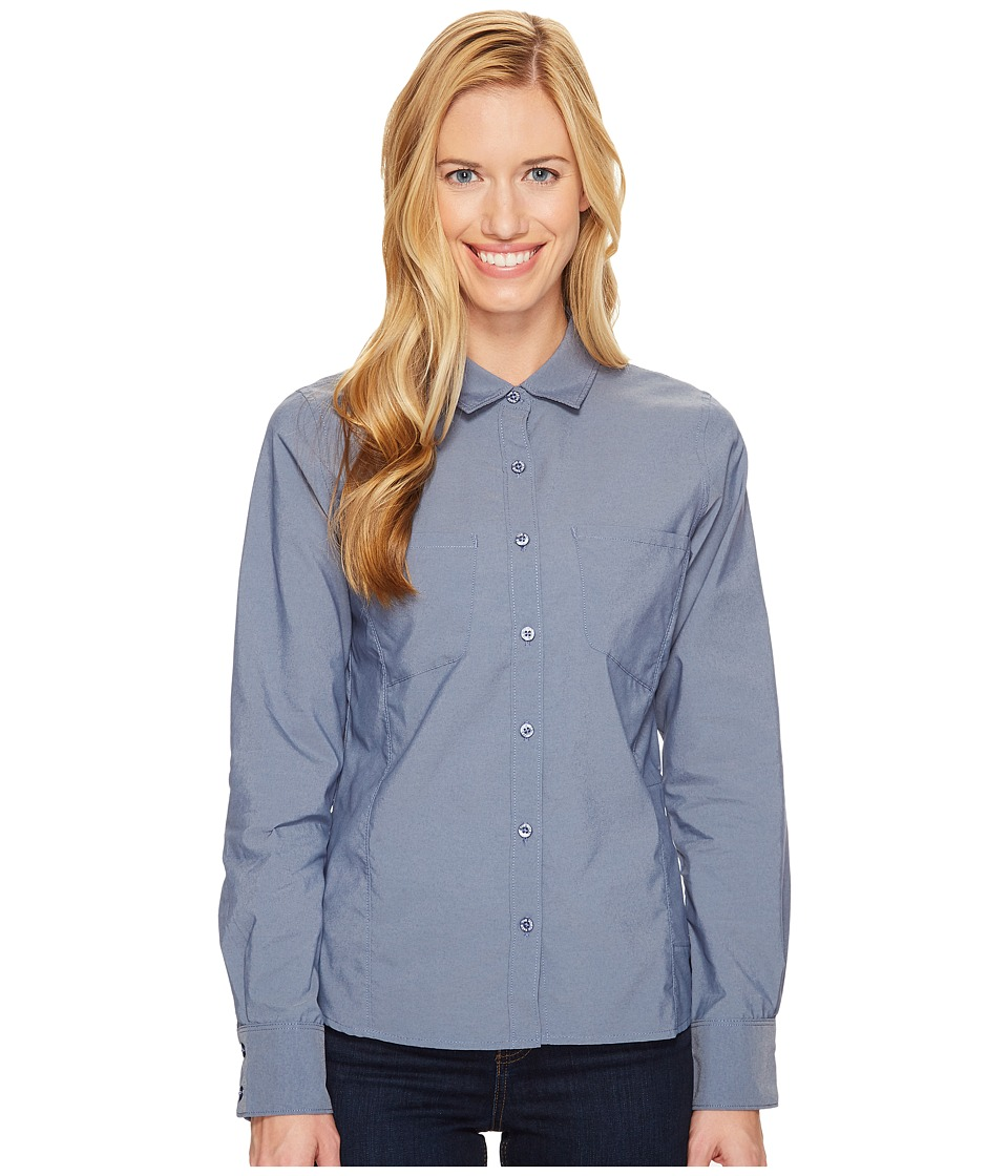 The North Face - Long Sleeve Sunblocker Shirt (Shady Blue (Prior Season)) Women's Long Sleeve Button Up