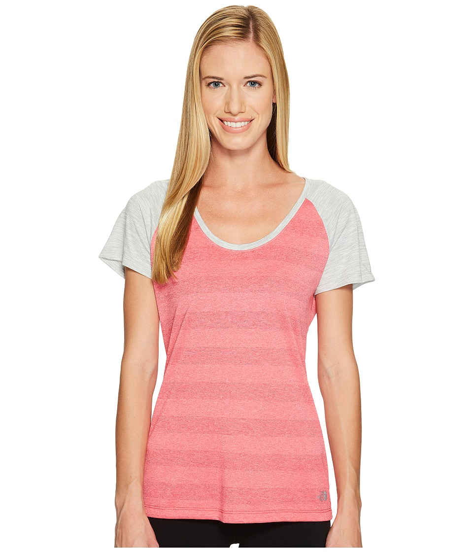 The North Face Short Sleeve Adventuress Tee (Honeysuckle Pink Heather (Prior Season)) Women