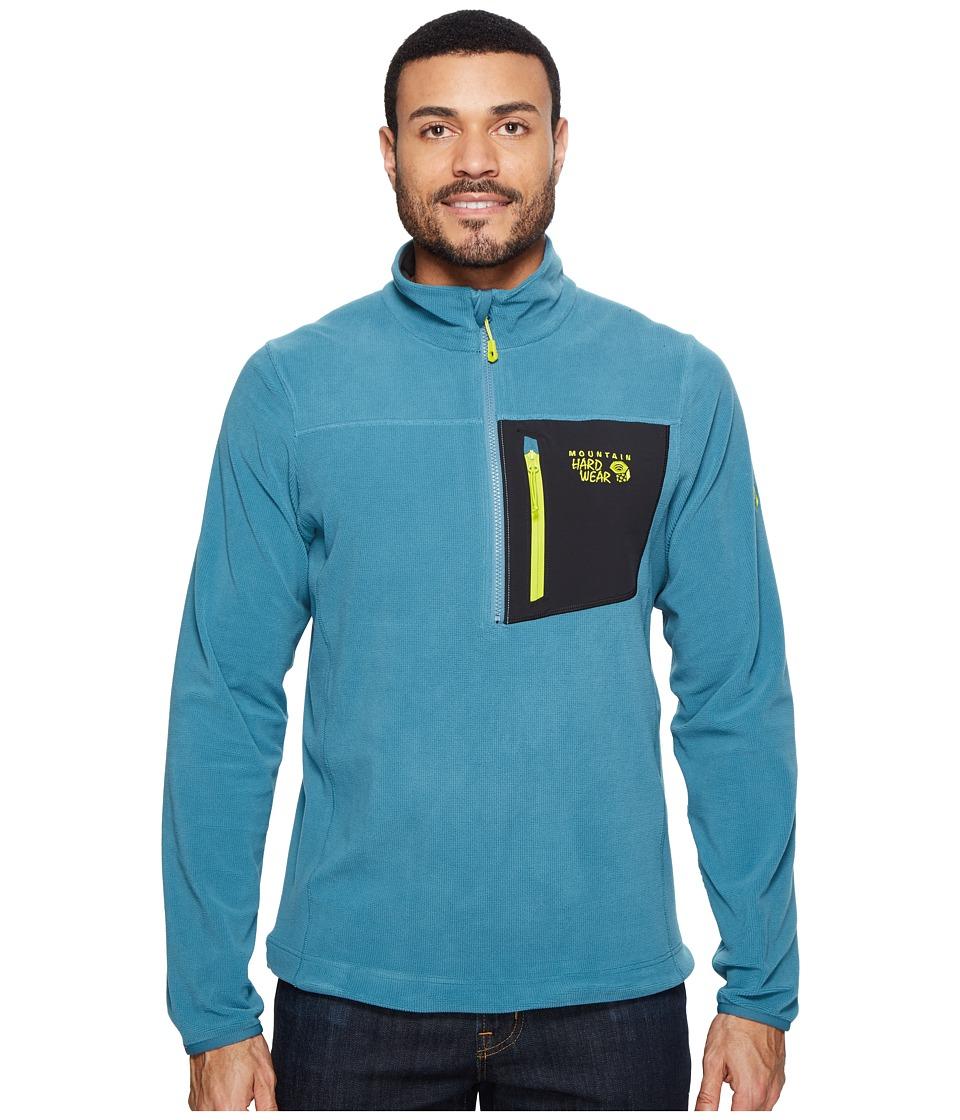 Mountain Hardwear - Streckertm Lite Quarter-Zip (Cloudburst) Men's Long Sleeve Pullover