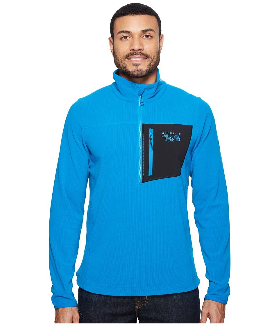 Mountain Hardwear - Streckertm Lite Quarter-Zip (Dark Compass) Men's Long Sleeve Pullover