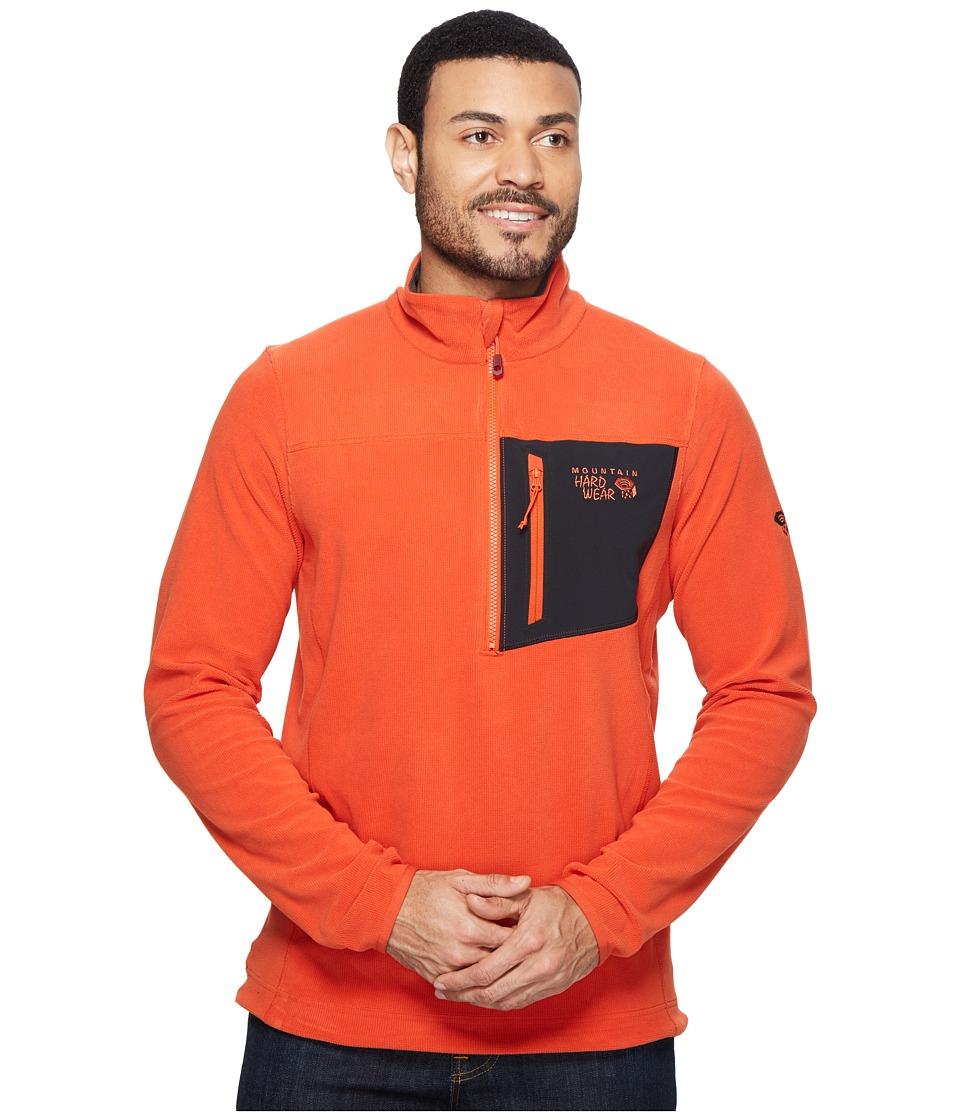 Mountain Hardwear - Streckertm Lite Quarter-Zip (Bonfire) Men's Long Sleeve Pullover