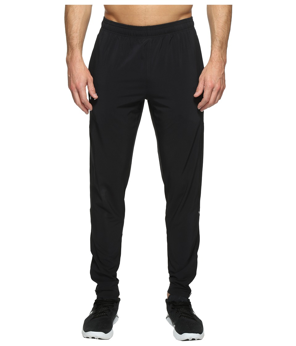 Under Armour - No Breaks Stretch Woven Tapered Pants (Black/Black/Reflective) Men's Casual Pants