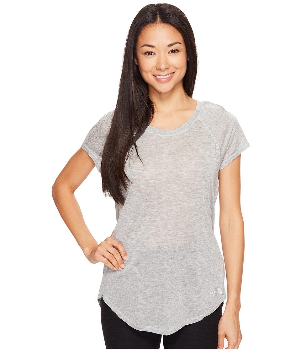 The North Face - Versitas Short Sleeve Top (TNF Light Grey Heather (Prior Season)) Women's Short Sleeve Pullover