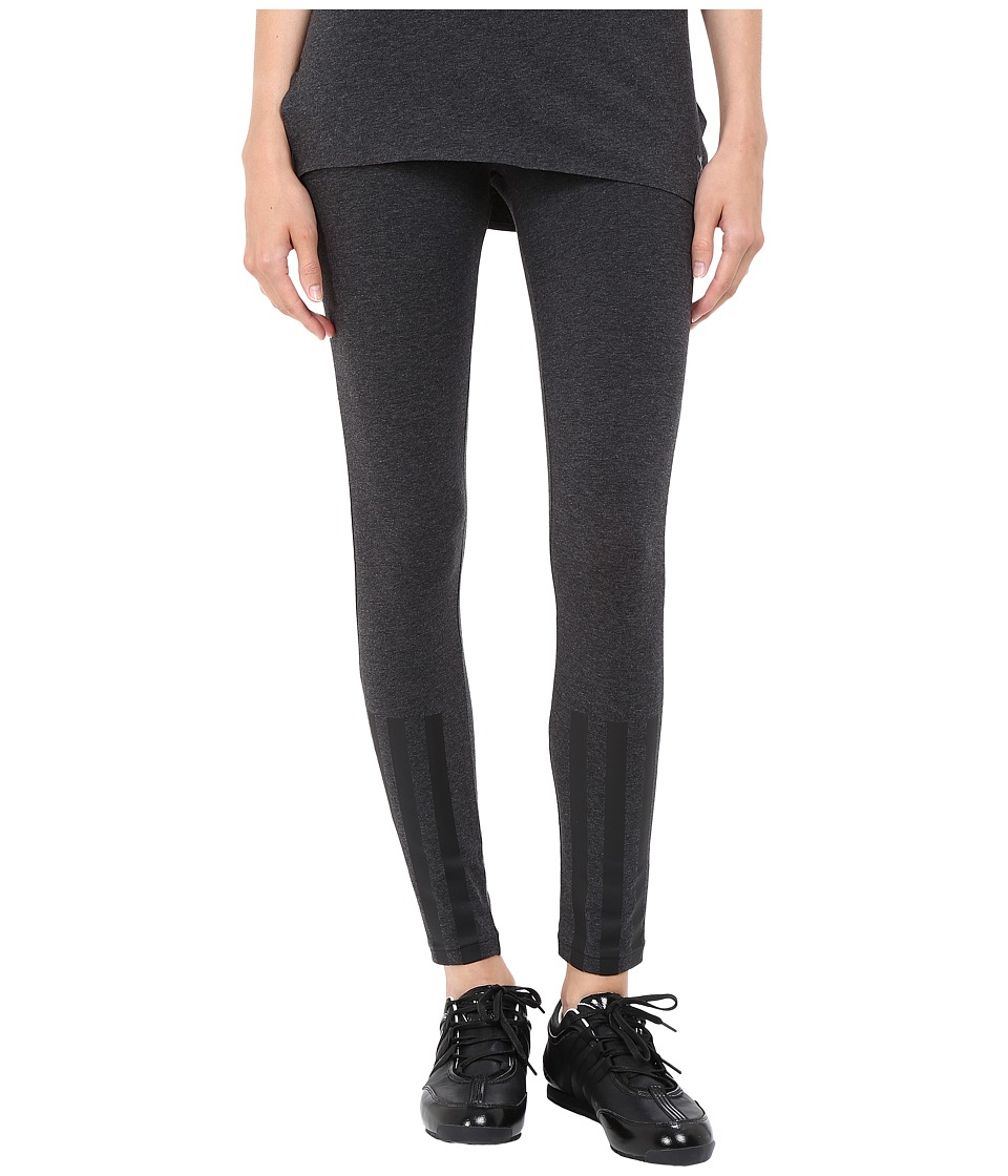 adidas Y-3 by Yohji Yamamoto - Jersey Leggings (Charcoal Melange) Women's Casual Pants