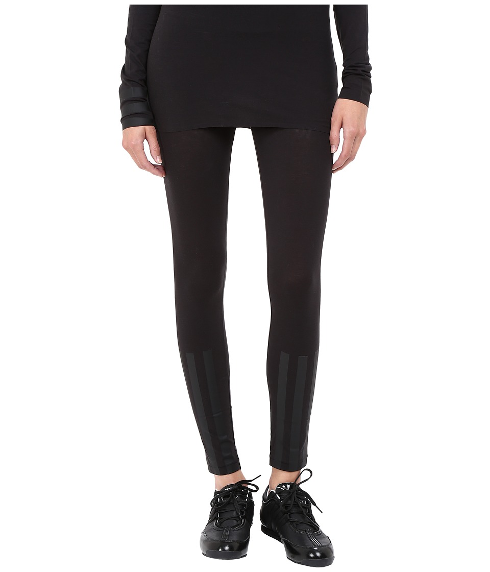 adidas Y-3 by Yohji Yamamoto - Jersey Leggings (Black) Women's Casual Pants