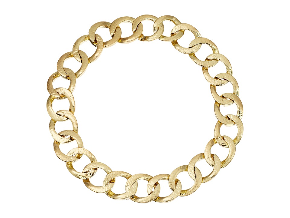 House of Harlow 1960 - The Ra Hammered Chain Necklace (Gold) Necklace