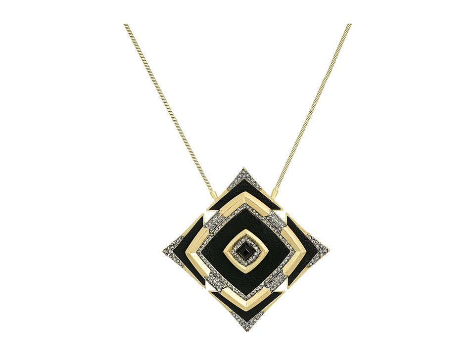 House of Harlow 1960 - Lady of the Lake Pendant Necklace (Black) Necklace