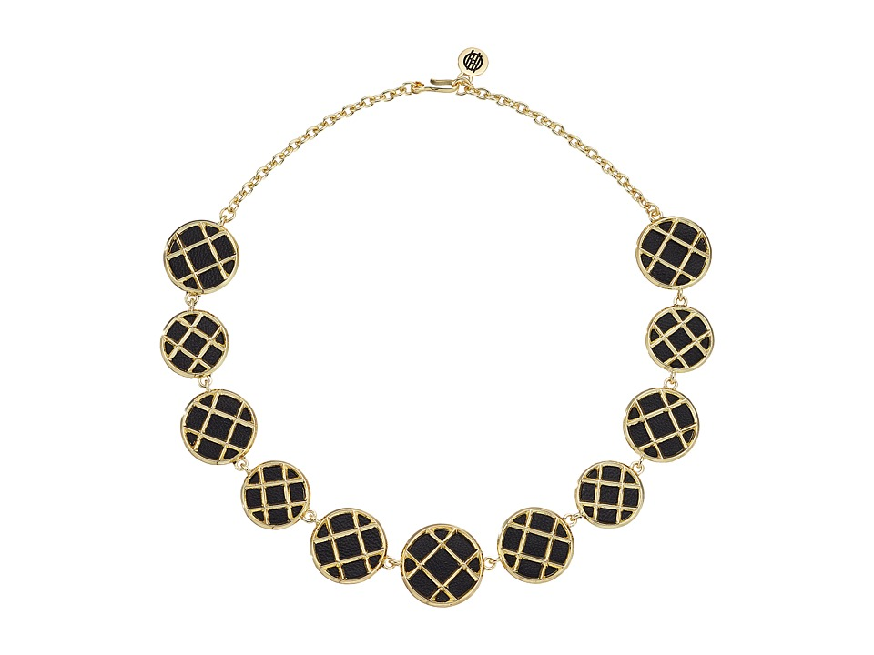 House of Harlow 1960 - Phoebe Caged Statement Necklace (Black) Necklace