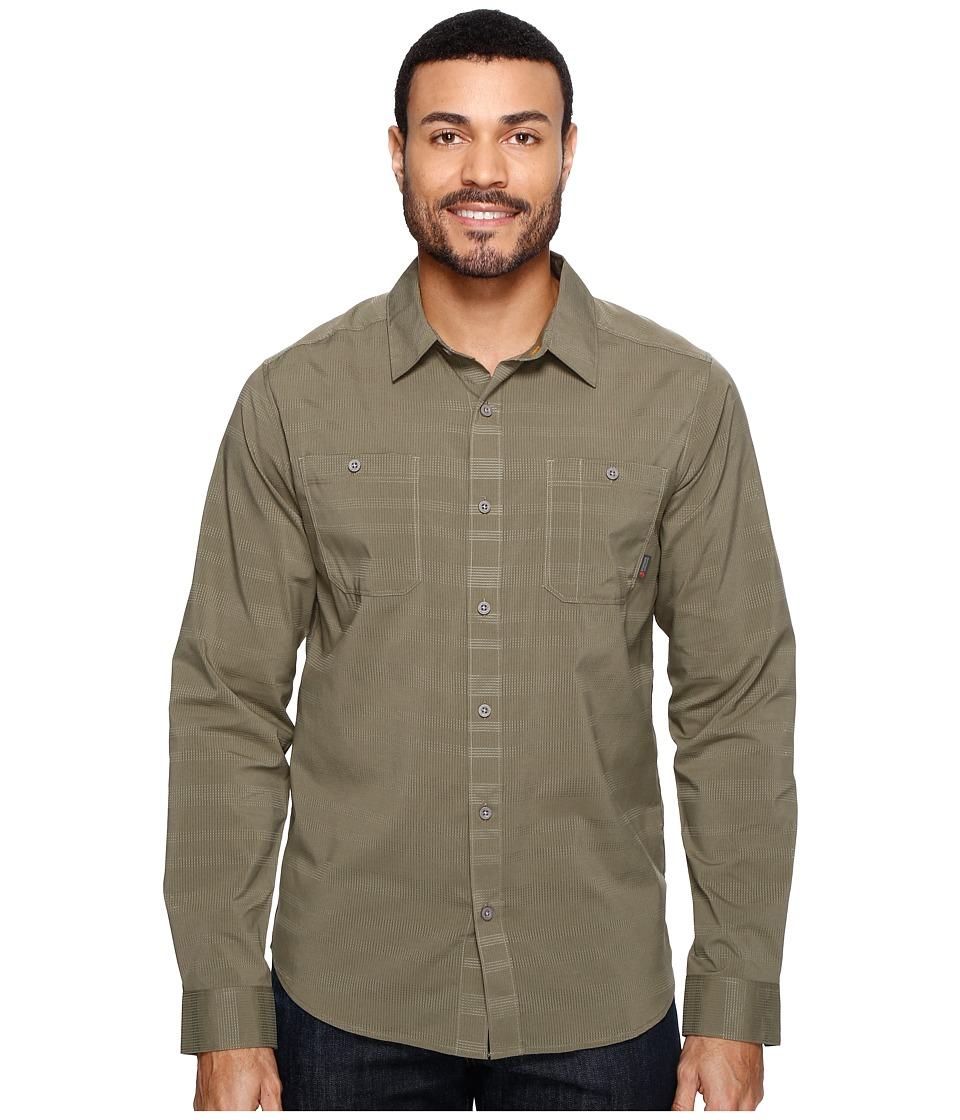 Mountain Hardwear - Air Tech AC Stripe Long Sleeve Shirt (Stone Green) Men's Long Sleeve Button Up