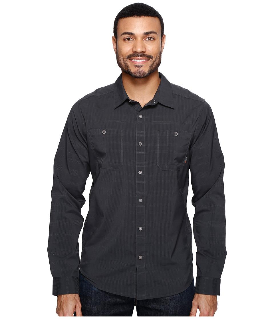 Mountain Hardwear - Air Tech AC Stripe Long Sleeve Shirt (Shark) Men's Long Sleeve Button Up