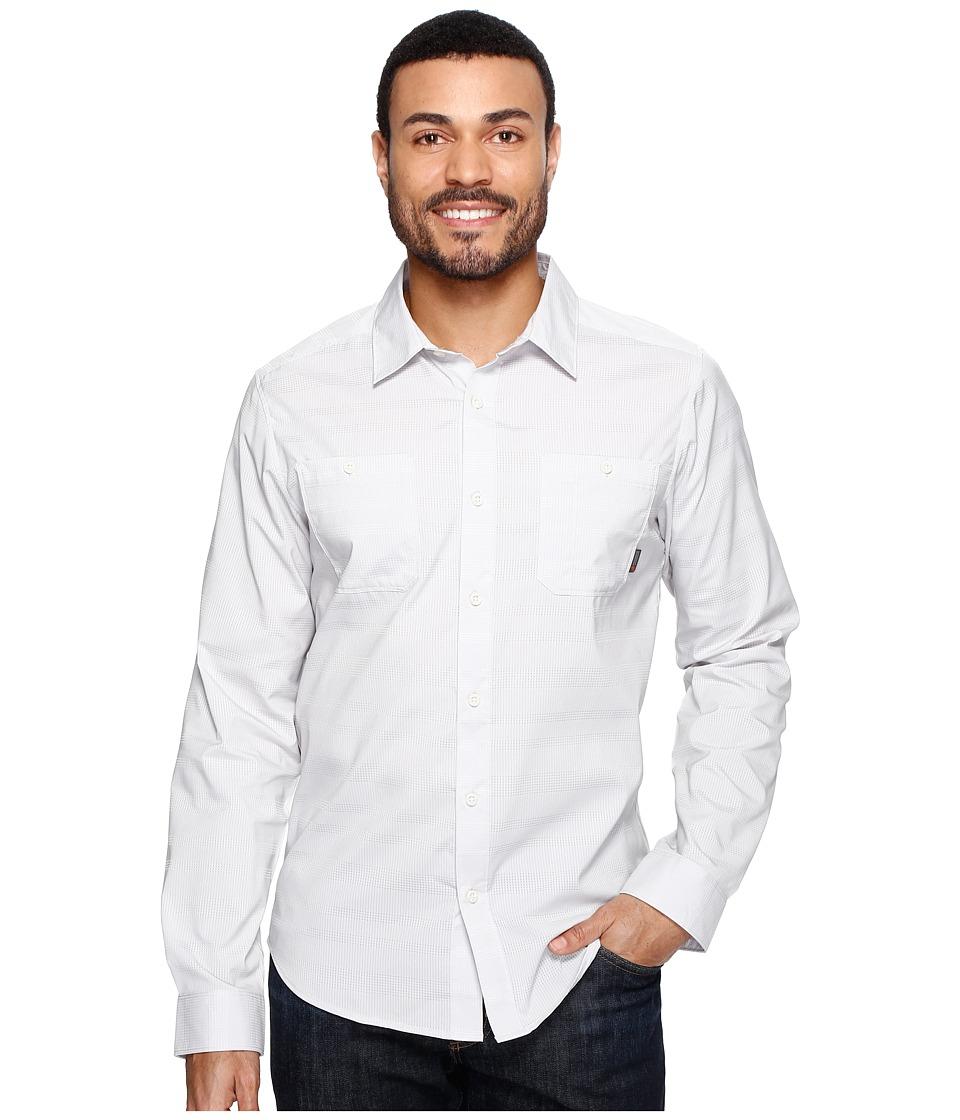 Mountain Hardwear - Air Tech AC Stripe Long Sleeve Shirt (Grey Ice) Men's Long Sleeve Button Up