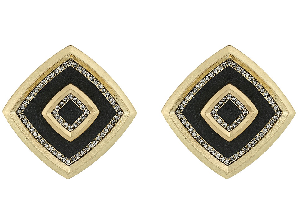 House of Harlow 1960 - Lady of the Lake Button Earrings (Black) Earring