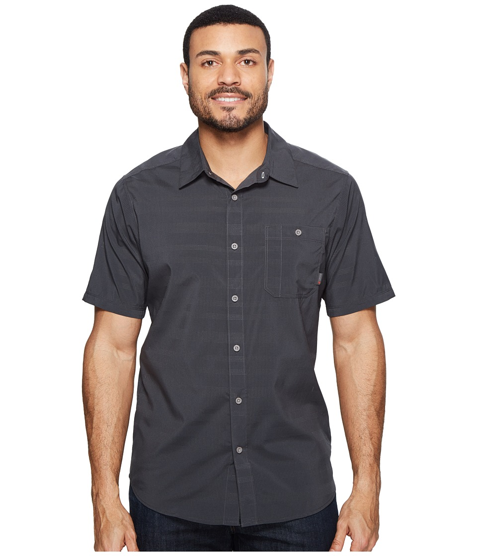 Mountain Hardwear - Air Tech AC Stripe Short Sleeve Shirt (Shark) Men's Short Sleeve Button Up