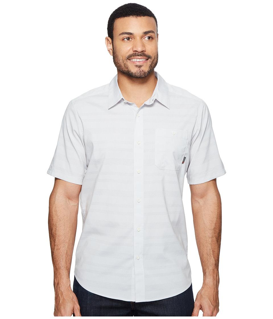 Mountain Hardwear - Air Tech AC Stripe Short Sleeve Shirt (Grey Ice) Men's Short Sleeve Button Up