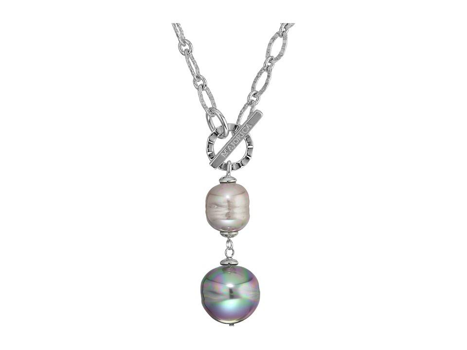 Majorica - Classic Silver Pendant Necklace (Multi) Necklace