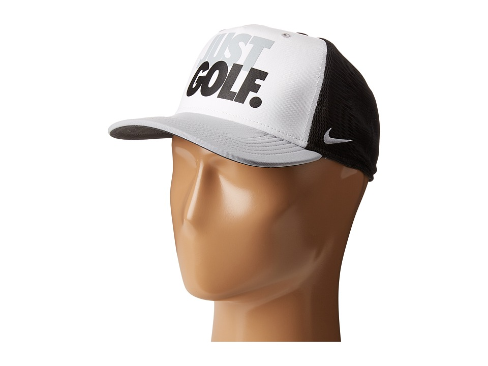 Nike Golf - YA True Novelty Cap (Black/White/Wolf Grey/Wolf Grey) Caps