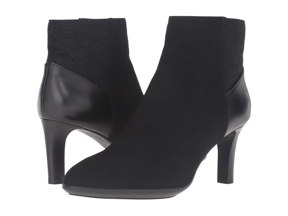 Aquatalia - Deidra (Black Combo Suede/Calf/Saffianino Combo) Women's Boots
