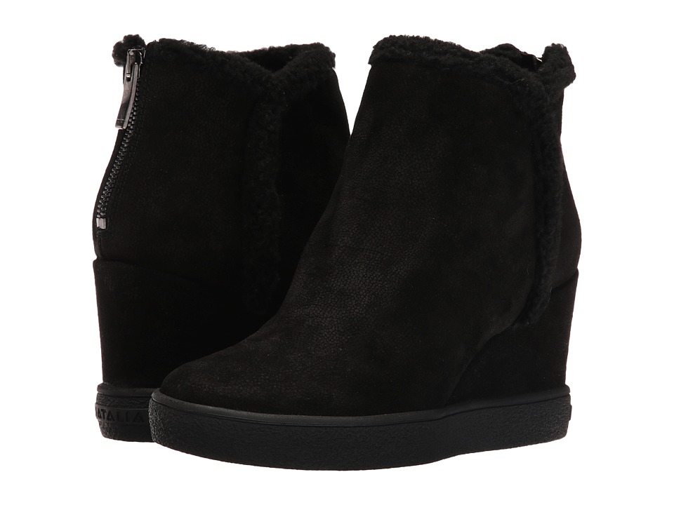 Aquatalia - Charlie (Black Pebbled Suede) Women's Boots