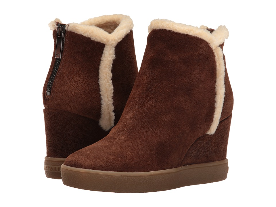 Aquatalia - Charlie (Chestnut Pebbled Suede) Women's Boots
