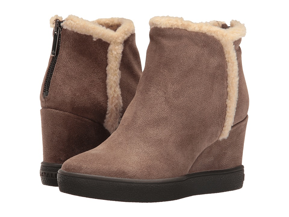 Aquatalia - Charlie (Taupe Pebbled Suede) Women's Boots