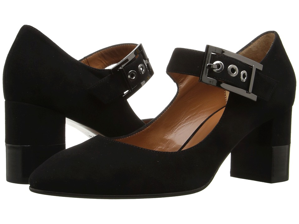 Aquatalia Elsie (Black Suede) High Heels