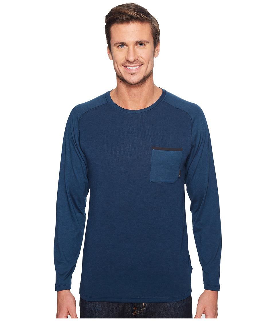 Mountain Hardwear - Coolhiker AC Long Sleeve Tee (Hardwear Navy) Men's T Shirt