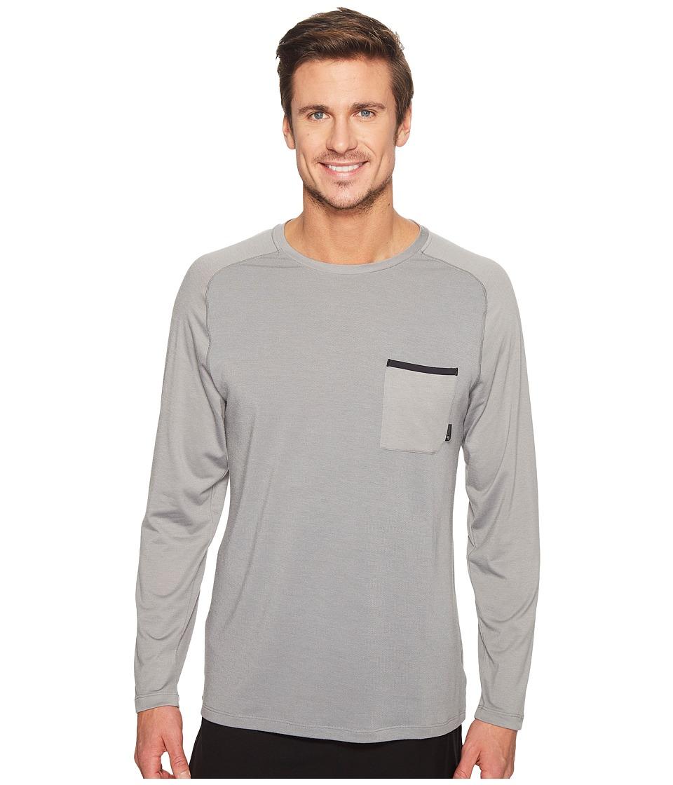 Mountain Hardwear - Coolhiker AC Long Sleeve Tee (Manta Grey) Men's T Shirt