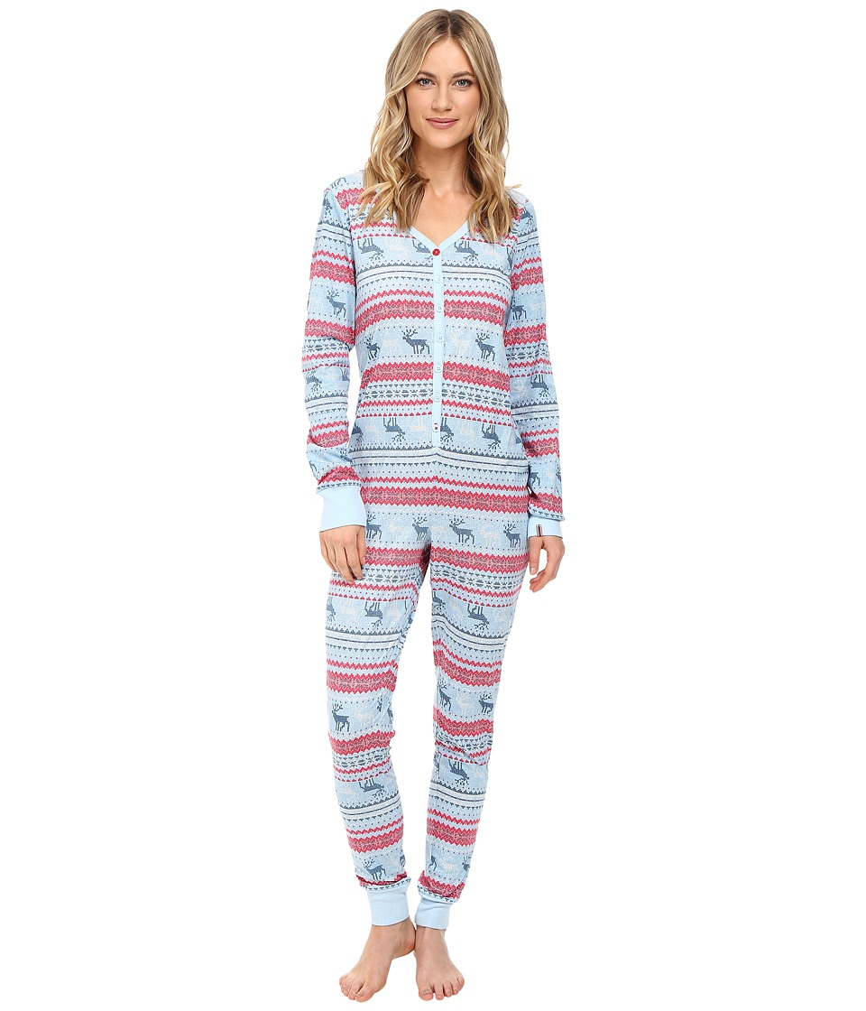 Jane & Bleecker - Long Sleeve Jersey One-Piece 3501252 (Jane Reindeer Fair Isle) Women's Jumpsuit & Rompers One Piece