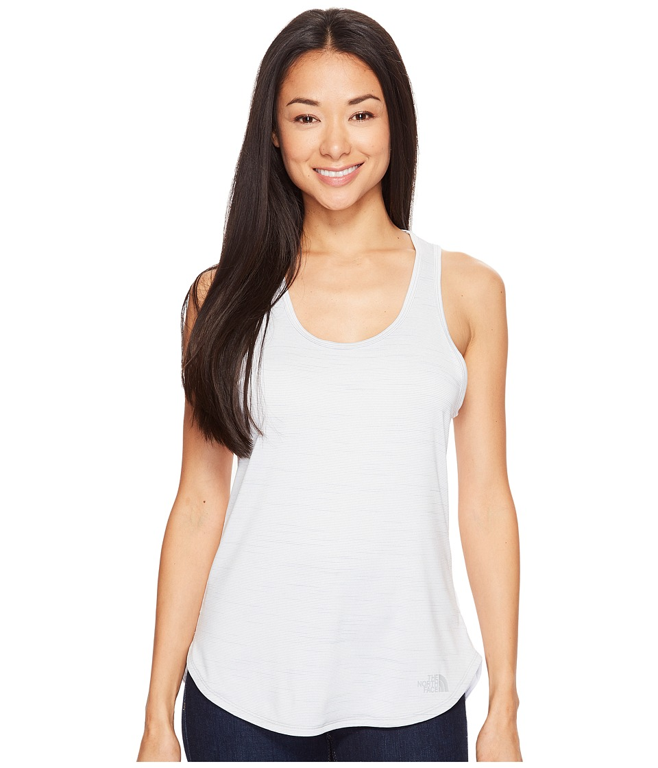 The North Face Motivation Stripe Tank Top (TNF White Heather (Prior Season)) Women