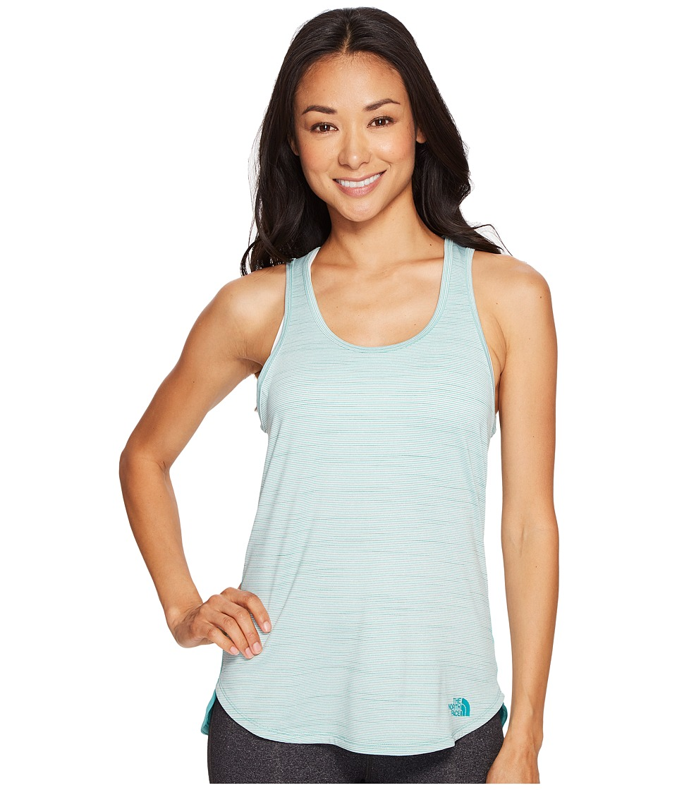 The North Face Motivation Stripe Tank Top (Agate Green Heather (Prior Season)) Women