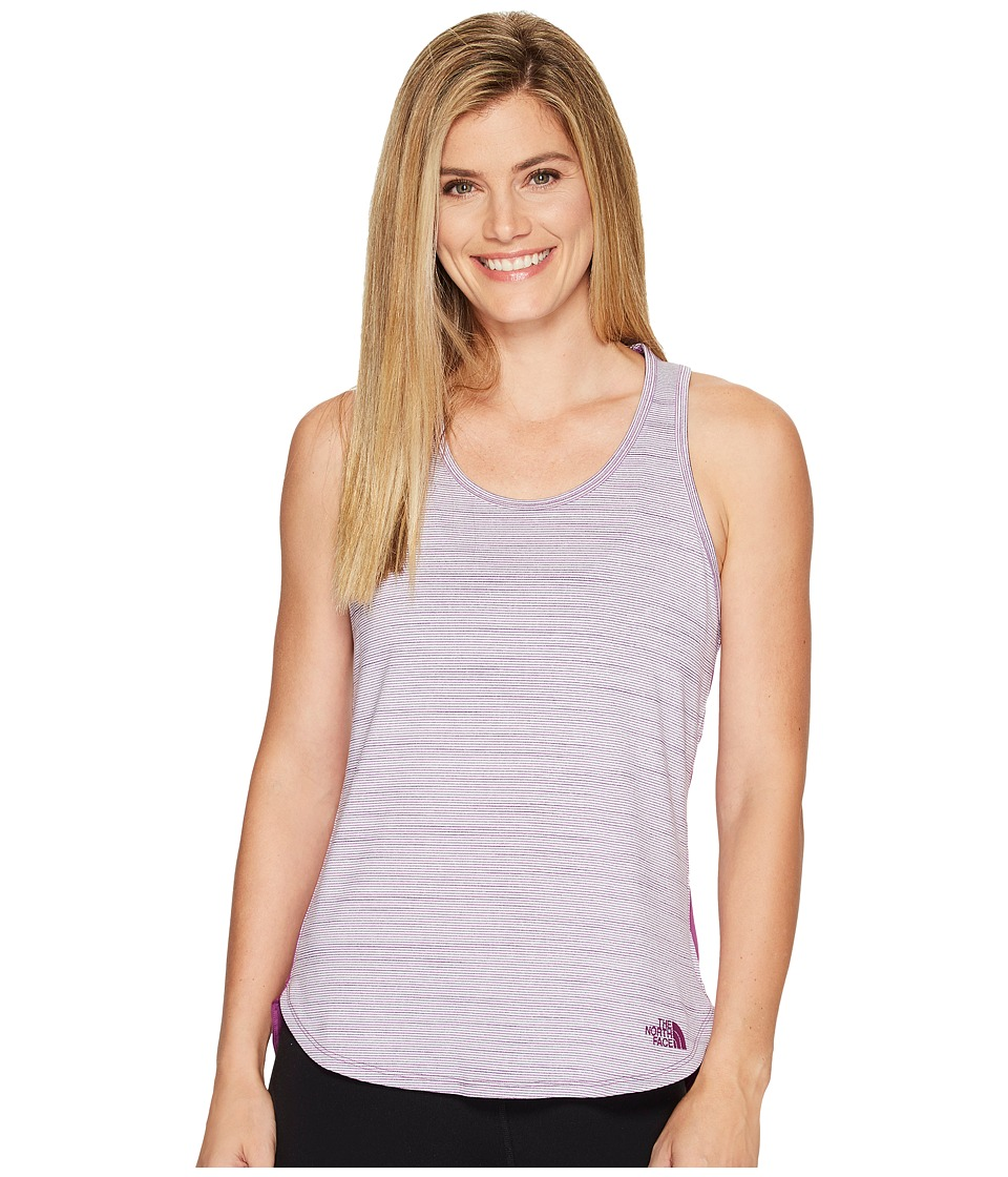 The North Face Motivation Stripe Tank Top (Wood Violet Heather (Prior Season)) Women