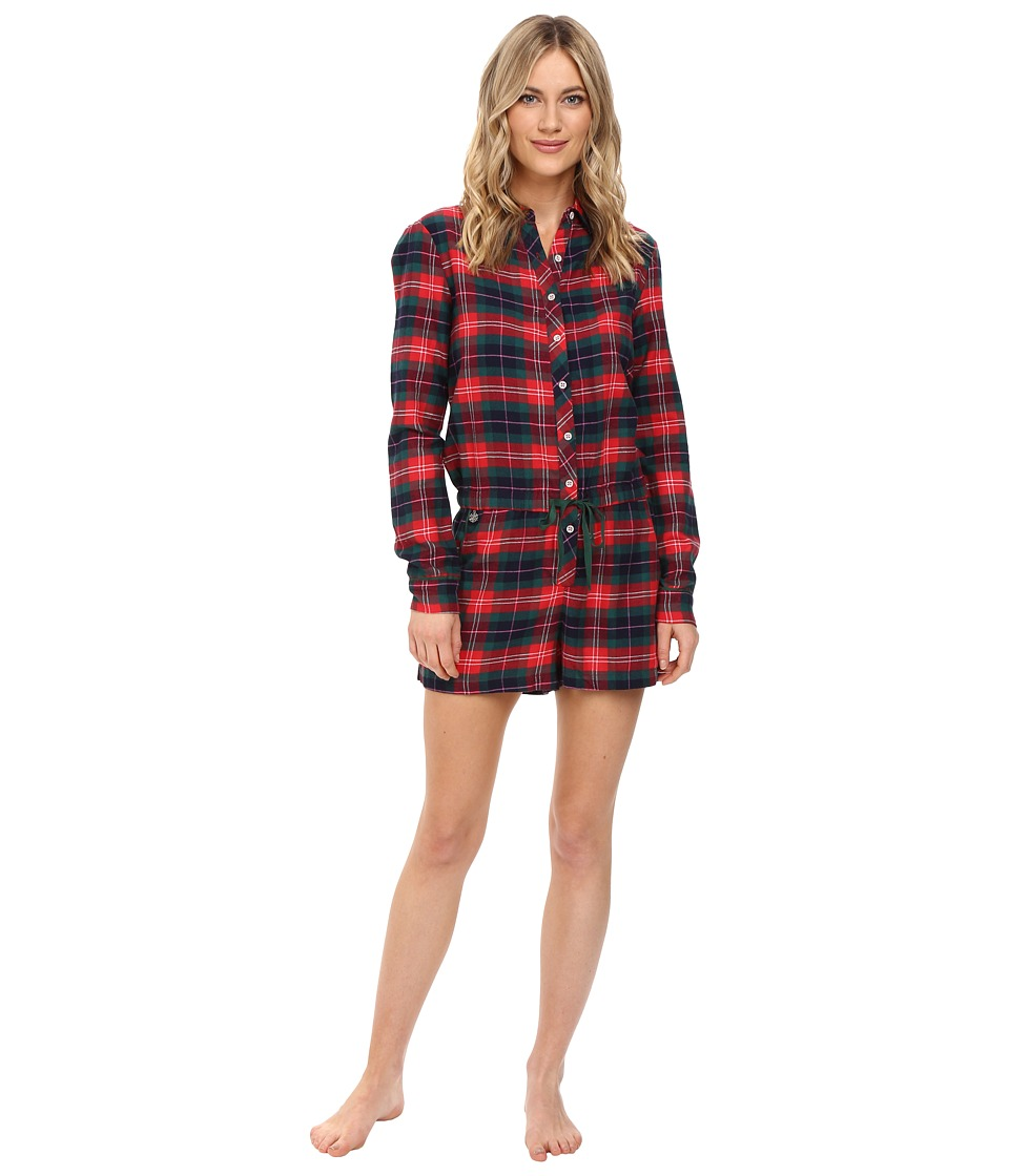 Jane & Bleecker - Flannel Romper 3501259 (Holiday Ski Plaid) Women's Jumpsuit & Rompers One Piece