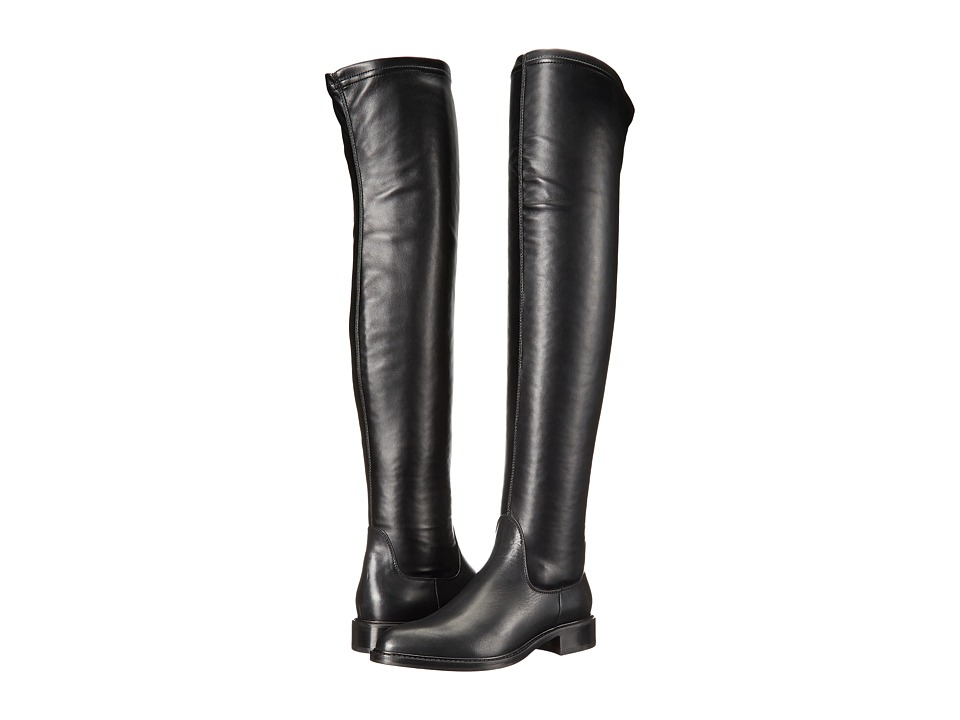 Aquatalia - Gisele (Black Calf/Stretch Nappa) Women's Boots