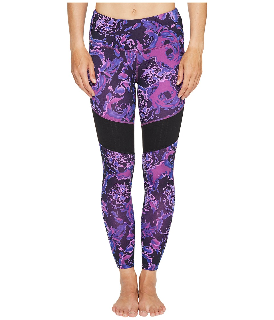 The North Face - Motivation Mesh Leggings (Wood Violet Roses Print) Women's Casual Pants