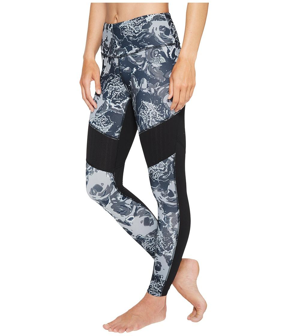 The North Face - Motivation Mesh Leggings (TNF Black Roses Print) Women's Casual Pants