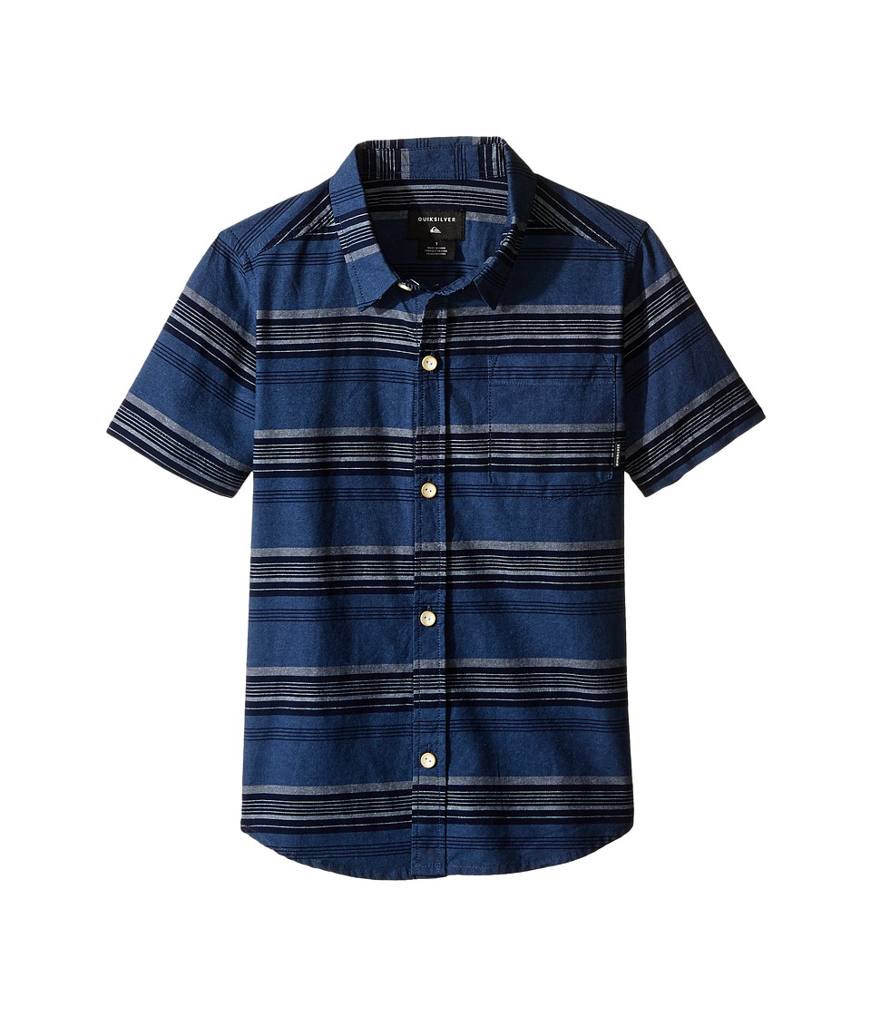 Quiksilver Kids - Script Shirt (Toddler/Little Kids) (Captains Blue) Boy's Clothing
