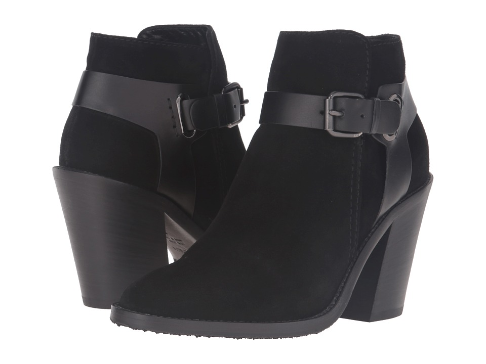 Aquatalia Liana (Black Suede/Calf Combo) Women