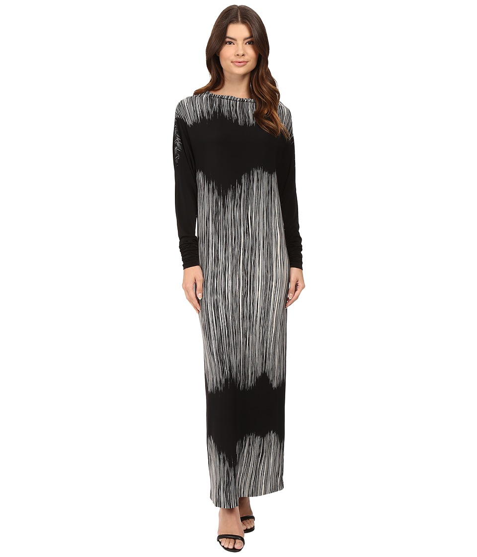 KAMALIKULTURE by Norma Kamali All-In-One Gown Fringe Dress
