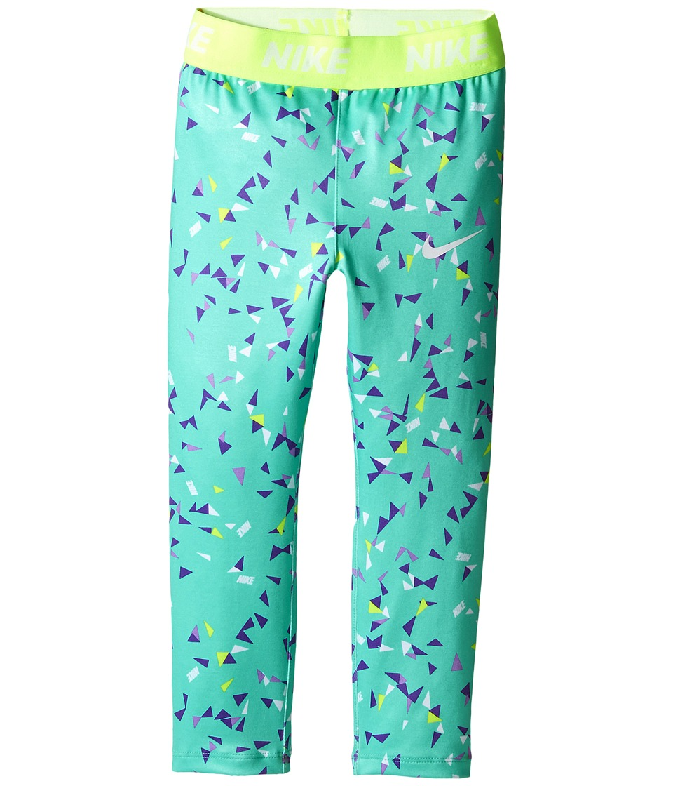Nike Kids - Dri-FIT Sport Essentials Print Legging (Toddler) (Green Glow) Girl's Casual Pants