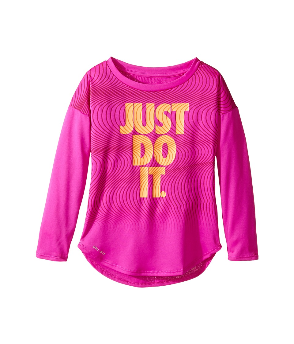 Nike Kids - Just Do It Wave Dri-FIT Modern Tee (Toddler) (Fire Pink) Girl's T Shirt
