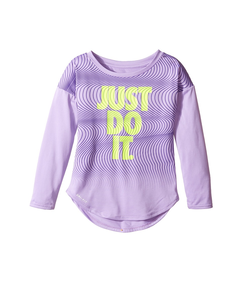 Nike Kids - Just Do It Wave Dri-FIT Modern Tee (Toddler) (Urban Lilac) Girl's T Shirt