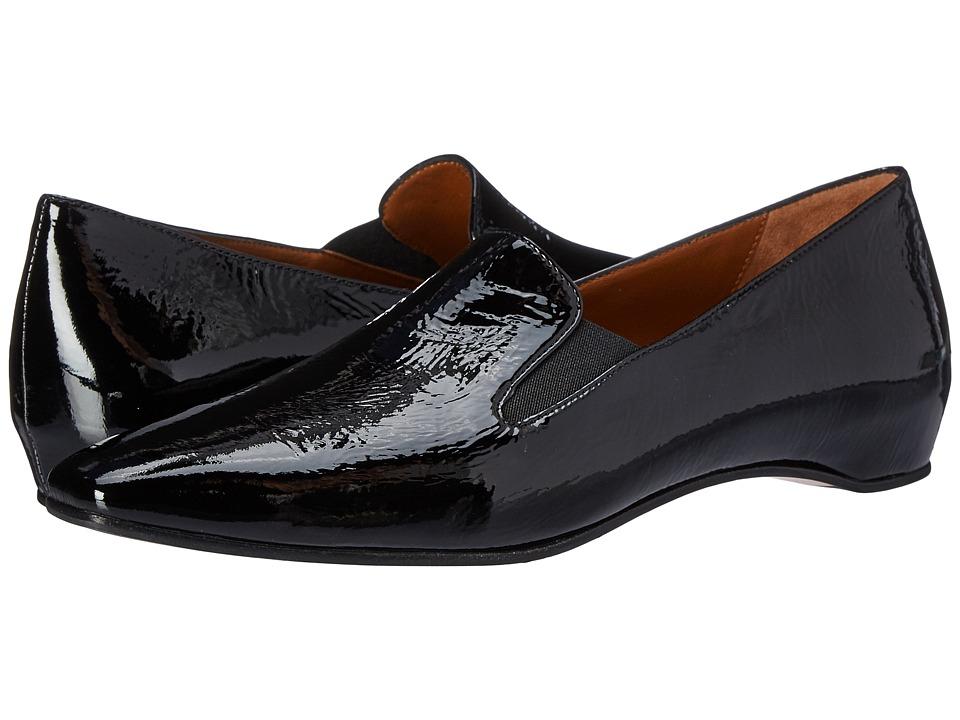 Aquatalia - Marianne (Black Naplak) Women's Slip on Shoes