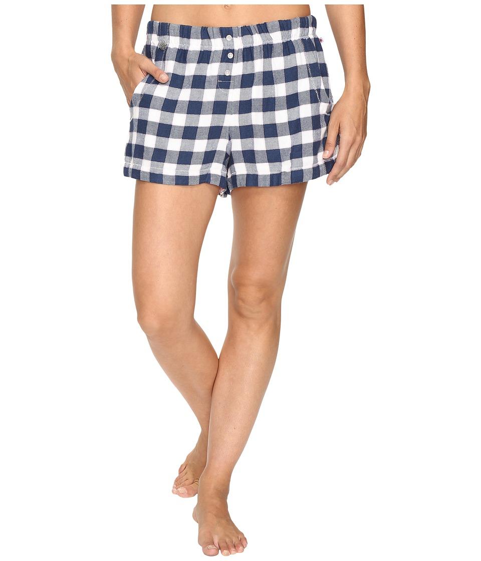 Jane & Bleecker - Flannel Shorts 3511259 (Small Plaid with Lurex) Women's Pajama